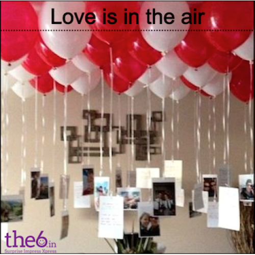 Love Is In The Air Romantic Balloon Surprise For Your